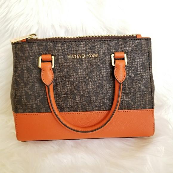 28629960dfc1 wholesale michael kors kellen xs brown tangerine satchel bag 05040 359bb